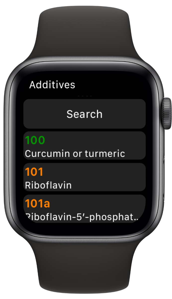 Vegan Additive Search app