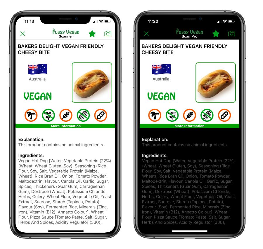 Fussy Vegan Fast Food Pro app