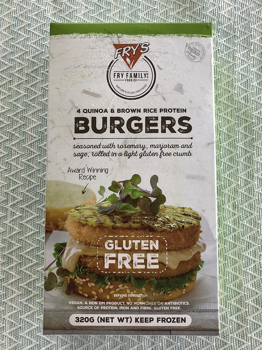 Fry&#8217s vegan burgers