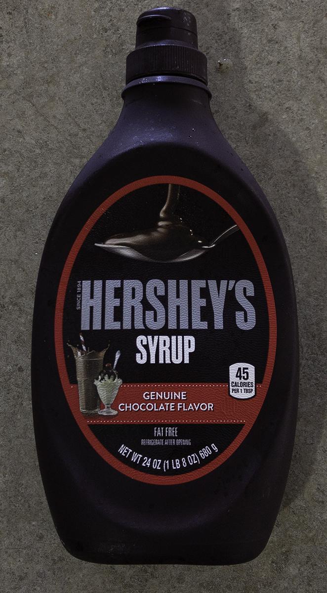 Hershey's Chocolate Syrup.
