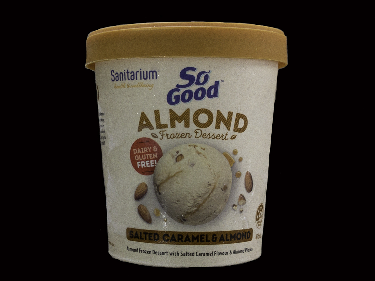 So Good Salted Caramel and Almond Ice Cream