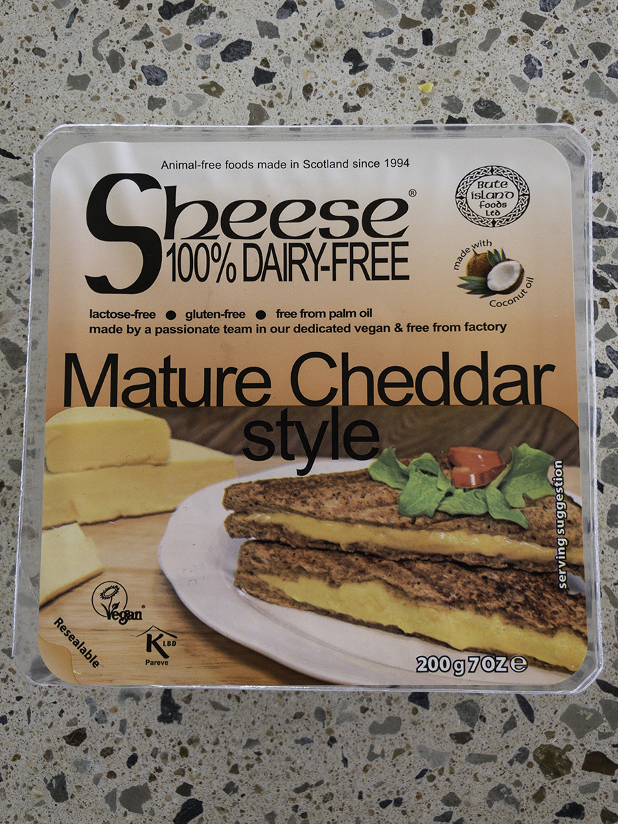 Sheese Mature Cheddar style cheese.