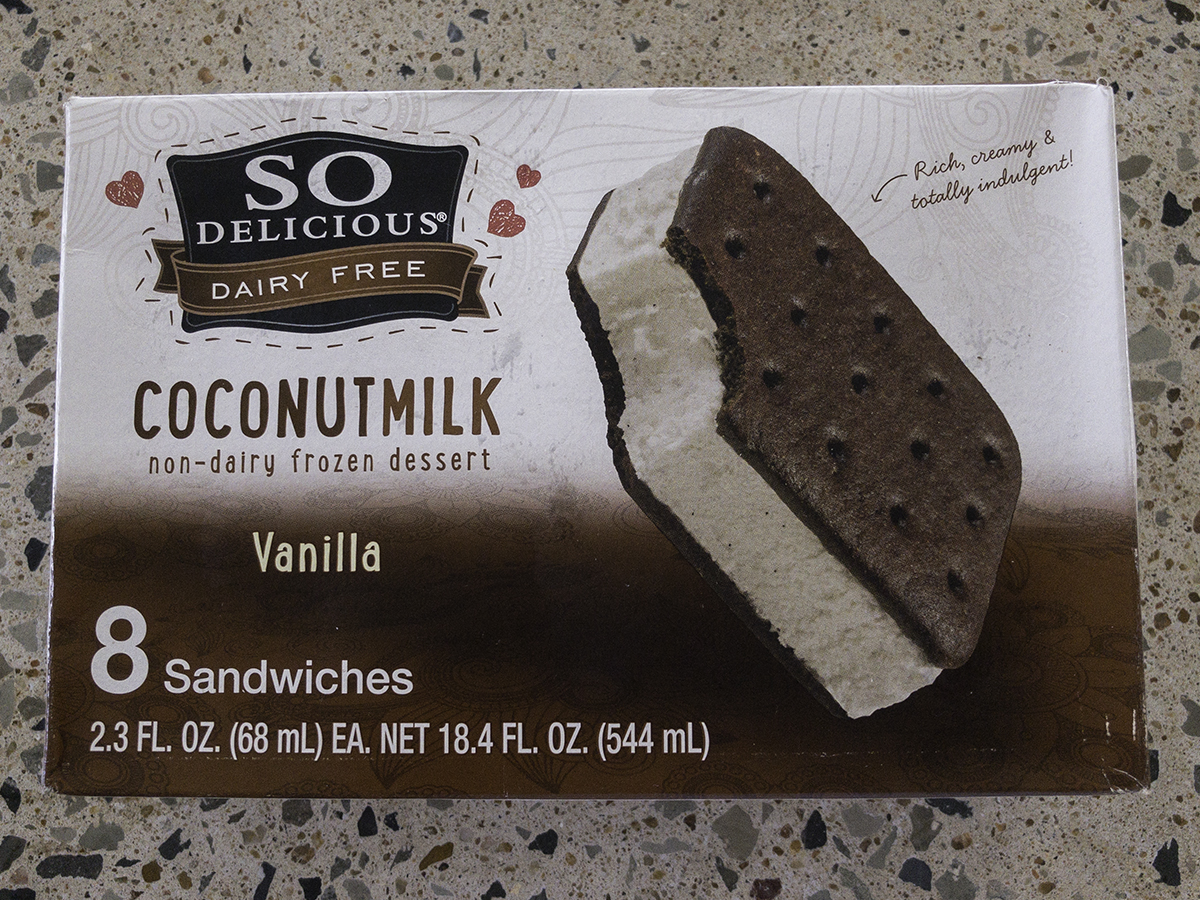 So Delicious Vanilla Ice Cream Sandwich