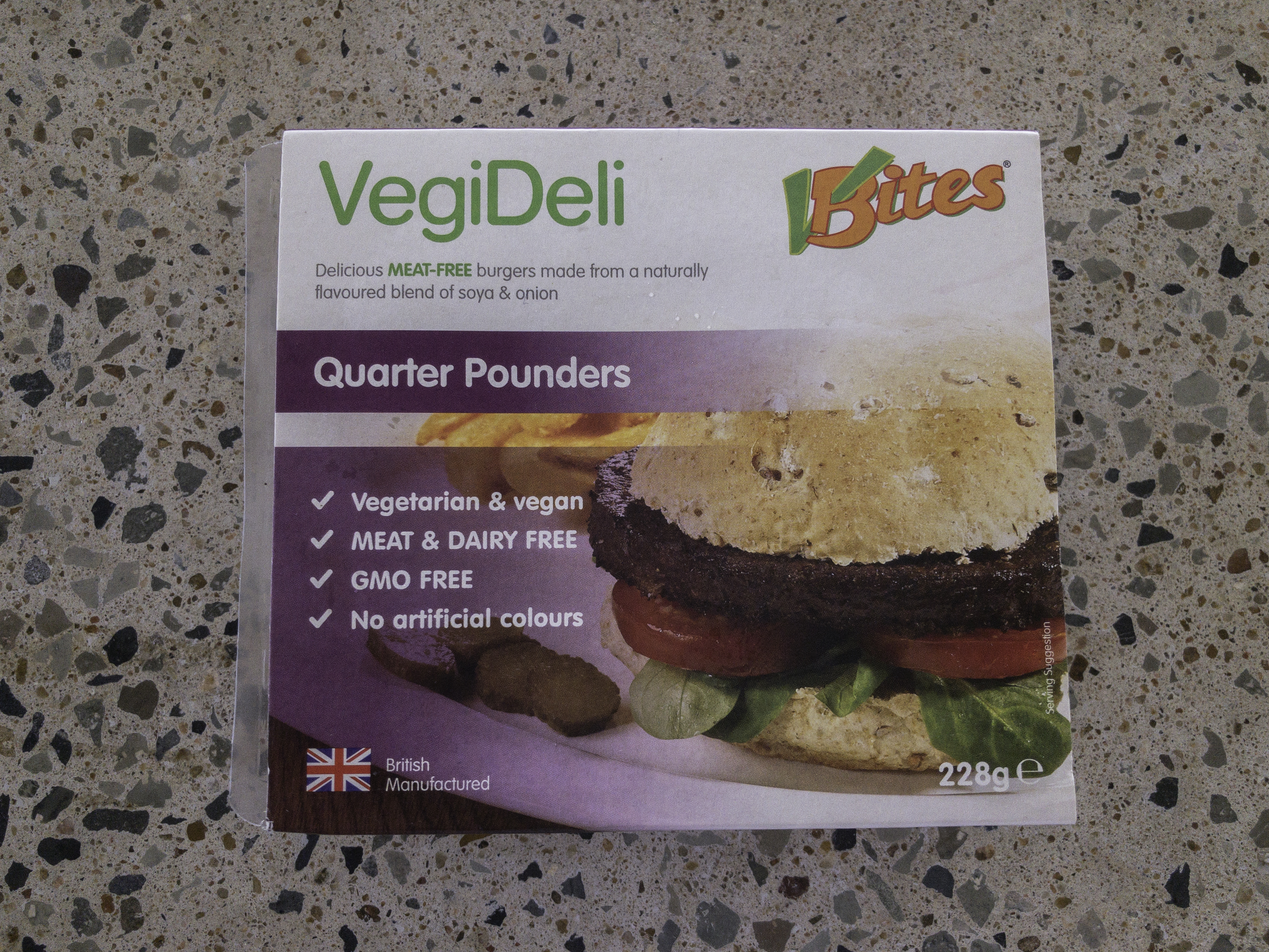 VBites Quarter Pounder Burgers